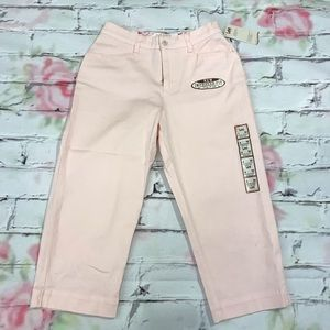 Pink Hi Waisted Capri Shorts in Size 4 NWT
